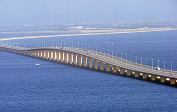 The existing King Fahad Causeway ... King Hamad Causeway will run parallel.