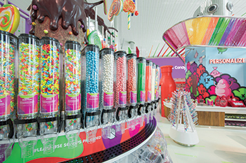 Candylicious at Dubai airport ... a whimsical candy land.