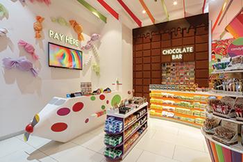 The Chocolate Wall ... displaying premium and luxury chocolates.