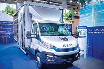 A Daily seven-tonne model .... displayed at the recent IAA 2018 Messe Hannover exhibition.