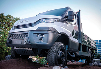 Iveco's new Daily 4x4 ... handles all terrains with ease.