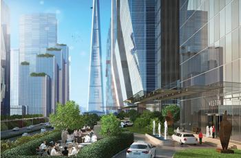 An artist impression of Jeddah Economic City ... a smart, environment-friendly, resort-like, mixed-use city.