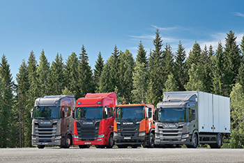 Scania's new generation truck range ... backed by 10 years of development.