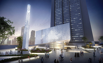 The DIFC Gate Avenue ... Walltech provided a range of architectural components.