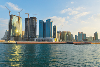 High-rises dot Bahrain's horizon in Juffair.