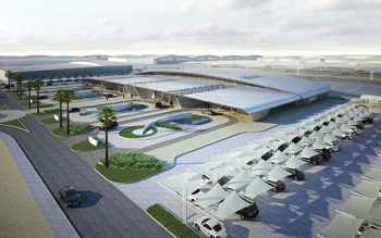 A rendering of the terminal.
