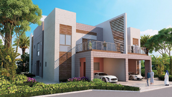 A semi-detached villa ... modern and sleek.