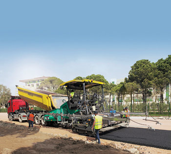 PaveDock Assistant ... eliminating miscommunication between the lorry driver and paver operator.
