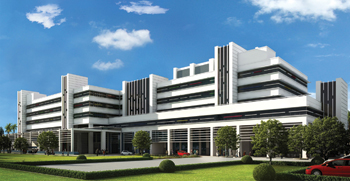 An artist's rendition of the PMHP Hospital under construction at Calicut, Kerala, India.