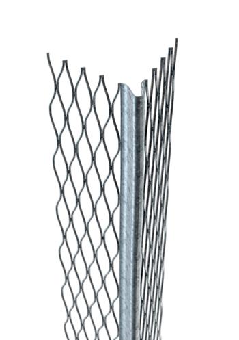 Catnic's galvanised steel angle bead.