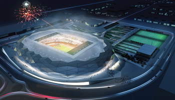 The Qatar Foundation Stadium ... 45,000 capacity.