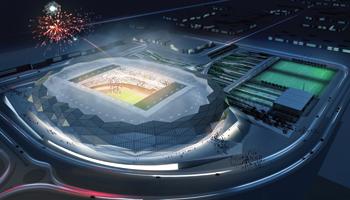 The Qatar Foundation Stadium ... 45,000 capacity.