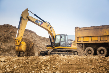The new Cat 326D2 ... powerful.