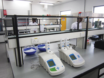 The Muharraq STP laboratory ... protected with XP95 detectors.