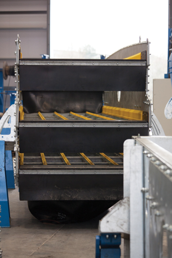 The ProGrade triple deck washing screen ... patented design.