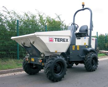 A Terex site dumper ... robust and efficient.