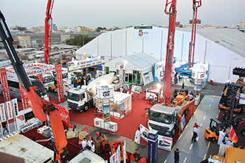 Machinery on display at the expo.