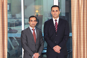 Mithaiwala with Jubran Abdulrahman, managing director, Hilal Conferences and Exhibitions.
