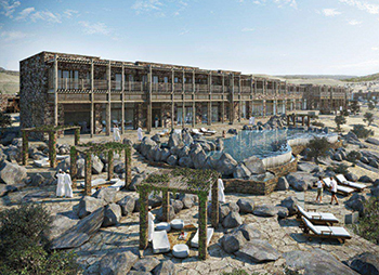 The Alila Jabal Al Akhdar resort hotel ... features Technal systems.