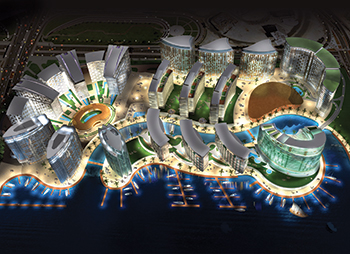 An artist's impression of the Jewel of the Creek.