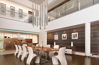 A model dining room.