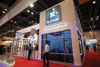 The Technal stand at The Big 5 in Dubai.