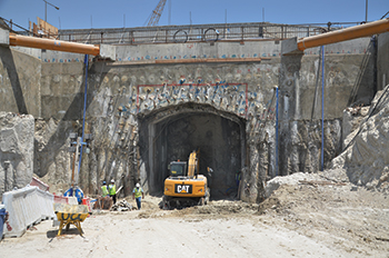 Five tunnels were constructed to access the Souq Waqif car-park.