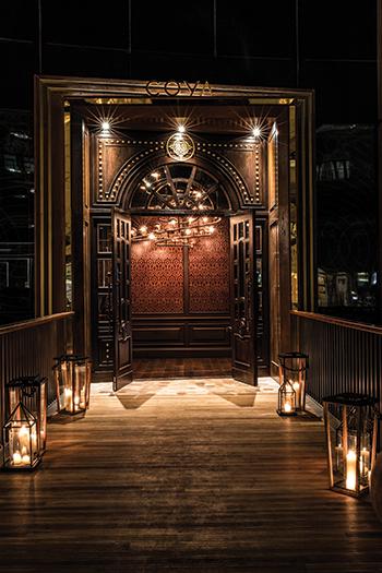Grand entrance doors.
