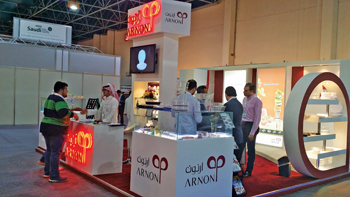 Arnon's stall at The Big 5 Saudi in Jeddah.
