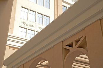 BASF's EIFS system was installed at the Sheraton  hotel at the Mall of the Emirates, Dubai.