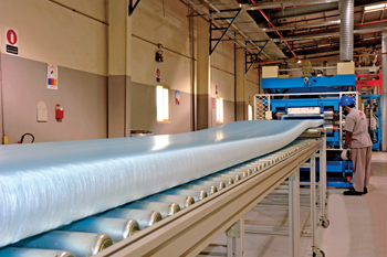 The new XPS insulation panels facility in Dammam.