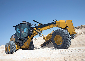 Cat 14 L AWD motor grader ... powerful and fuel efficient.