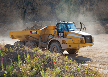 The Cat 735C ... durability highlighted.