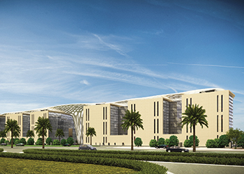An artist's impression of the specialist clinical centre in Qatar.