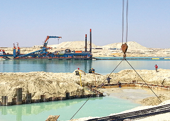 Alyaf geotextiles ... important role on the Suez Canal project.