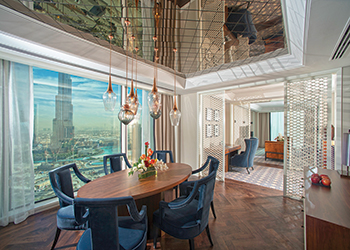 Taj Dubai's luxury Burj-view suite.