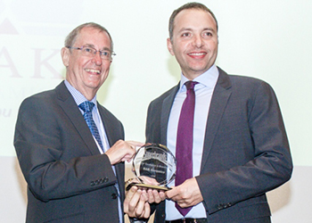 Massaad (right) ... receives the Superbrands award.