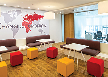 The Astellas Dubai office ... open feel.