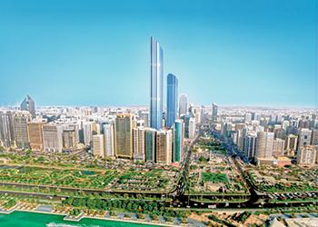 Burj Mohammed bin Rashid Tower ... stands tall.