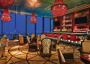 Blue Moon Lounge ... designed by Waldo Fernandez.