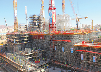 Pilosio shoring systems ... in use at the Prophet's Mosque.
