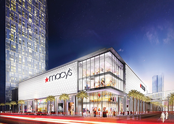 An artist's impression of Macy's, one of the outlets planned at the development.