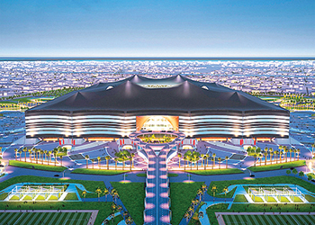 An artist's impression of the stadium.