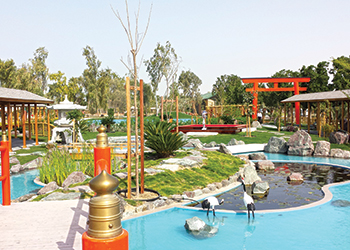 Japanese Themed Garden by Nass Landscapes at Al Areen.