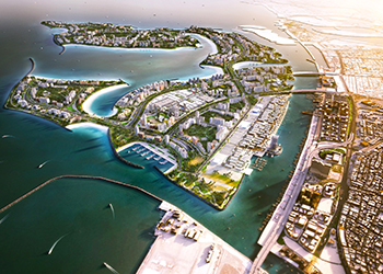 Deira Islands ... key water edge delivery deal for Van Oord.