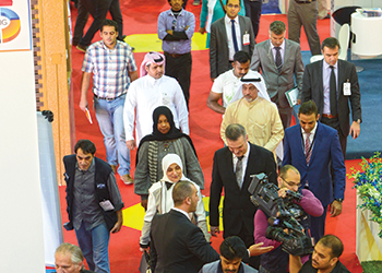 Visitors at The Big 5 Kuwait in 2014.