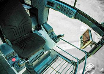 The cab ... enhanced driver ergonomics.
