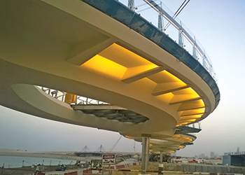 Lusail walkway ... being carried out by FCC in Qatar.