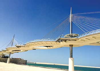 Lusail walkway ... an FCC project.
