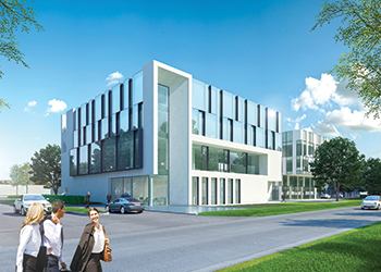 Artist's impressions of The Reynaers Institute ... state of the art.